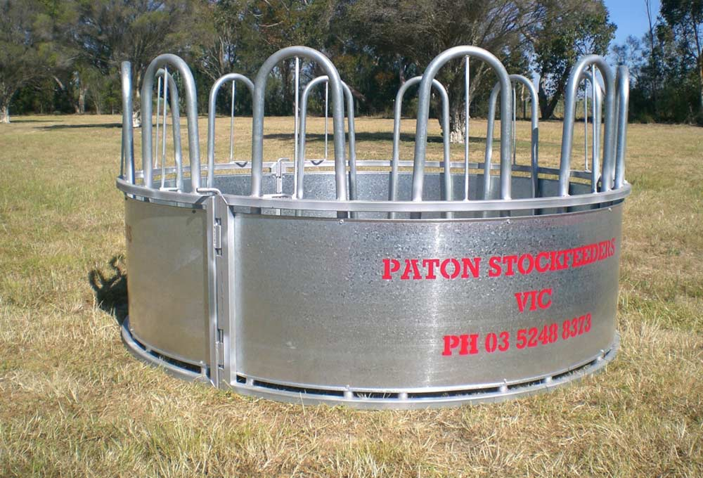 bale hay round piece s galvanized hoover tarter feeder fence bar co