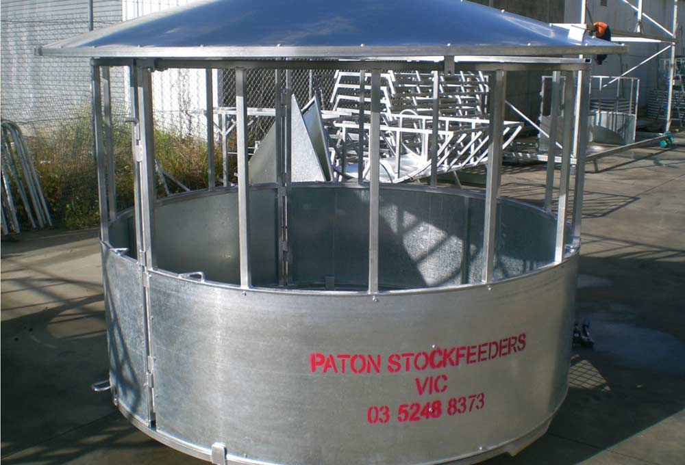 Paton Livestock Equipmenthay Ring With Roof Paton